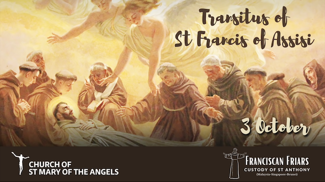 Transitus of St Francis of Assisi (3rd Oct)